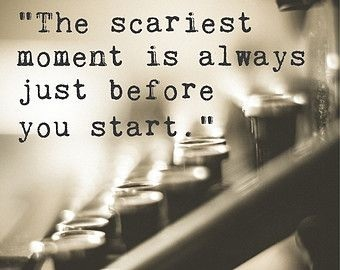 motivational meme about writing through fear from Backchannels Journal